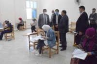Almaghrabi and El Gizawy inspects the Postgraduate Studies ' Exams